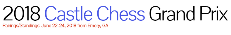 2018 Castle Chess Pairing and Standing