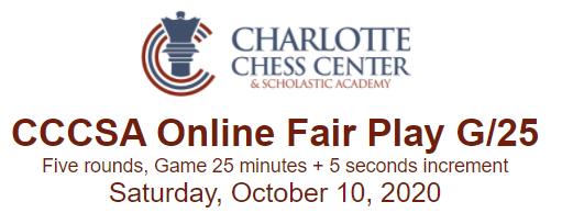 Charlotte Chess Center Online Fair Play G/25