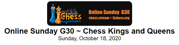 Sunday G30 Chess Kings and Queens